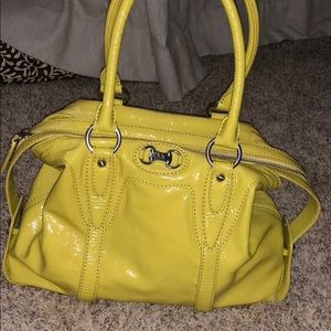 iridescent yellow michael kors purse